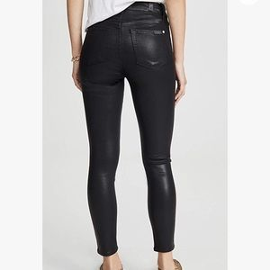 NWT 7FAM High-Rise Coated Skinny Ankle Jeans